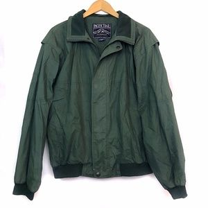 PACIFIC TRAIL Men's Green Bomber Midweight Jacket